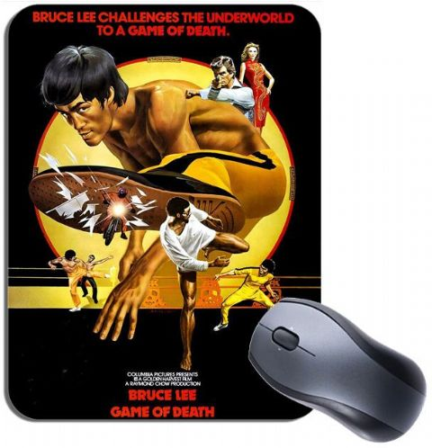 Game Of Death Vintage Poster Mouse Mat. Kung Fu Bruce Lee Film Mouse Pad Gift